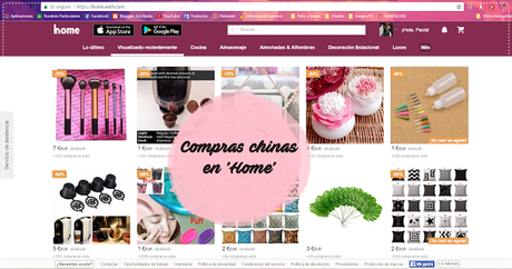 * Compras chinas online - Home/Wish *