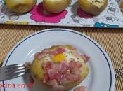 Barcas patata huevo