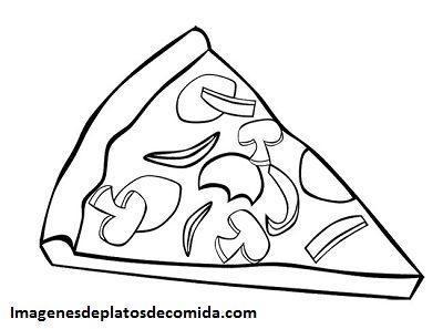 Cuatro Imagenes De Platos De Comida Para Colorear E Imprimir