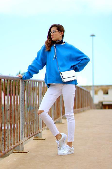 Silver Adidas Superstar
