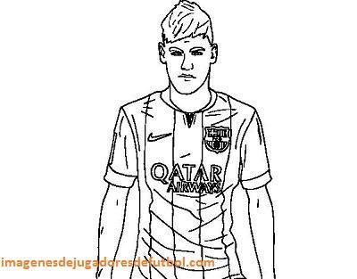 imagenes para colorear jugadores de futbol neymar