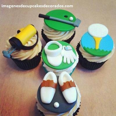 cupcakes decorados para hombres fondant
