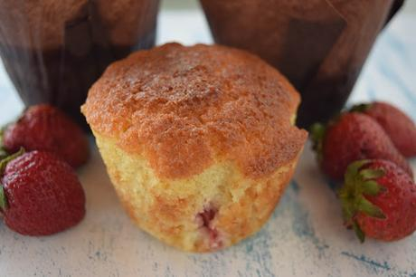 Muffins de Buttermilk y Fresas