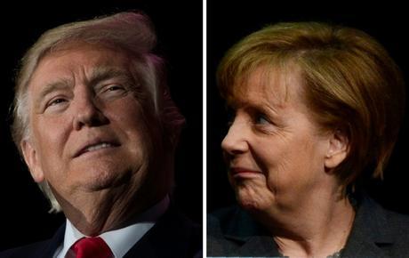 Se avecina el primer cara a cara entre Merkel y Trump
