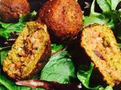 Bombas veganas falafel soja texturizada