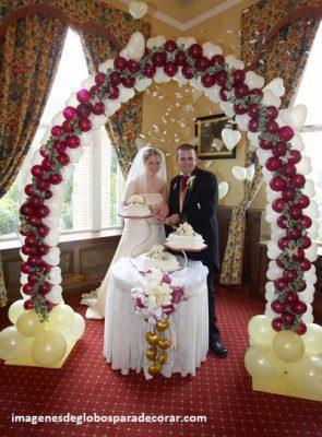 decoracion con globo para boda matrimonio
