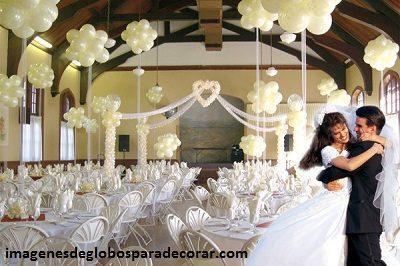 decoracion con globo para boda fiesta