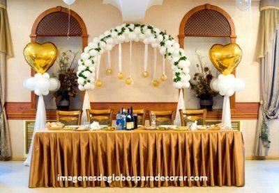 decoracion con globo para boda civil