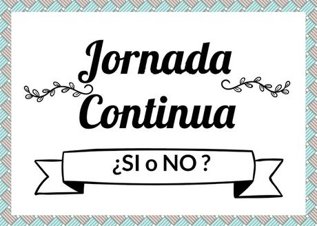 JORNADA CONTINUA EN COLEGIOS