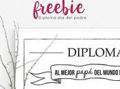 Freebie: Diploma para Papá