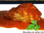 Bacalao salsa vizcaína