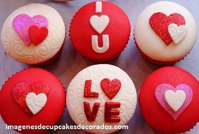 imagenes de cupcakes de amor decorados
