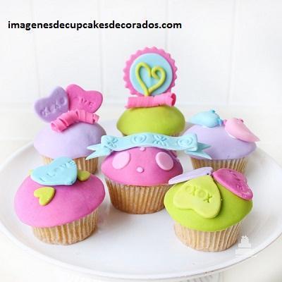 imagenes de cupcakes de amor fondant