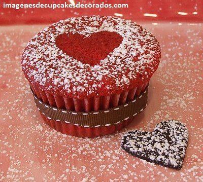 imagenes de cupcakes de amor enamorados
