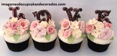 imagenes de cupcakes de amor sencillos
