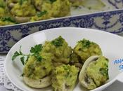 Champiñones rellenos tortilla