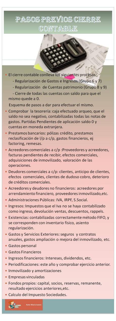 """""""Pasos Previos cierre contable """""""