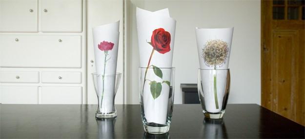 Decorar jarrones con flores impresas paperblog - Como decorar jarrones ...