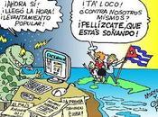 """artificio """"periodístico"""" agencia para justificar bloqueo Internet Cuba Estados Unidos caricatura)"""