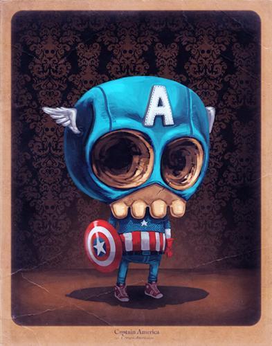 El Capitán América y Cráneo Rojo como nunca los habíais visto