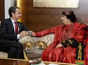 brutal amistad: Gadafi Rodriguez Zapatero (ZP).
