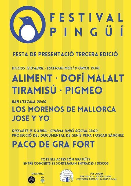 [Noticia] Concierto de presentación del Festival Pingüí 2017