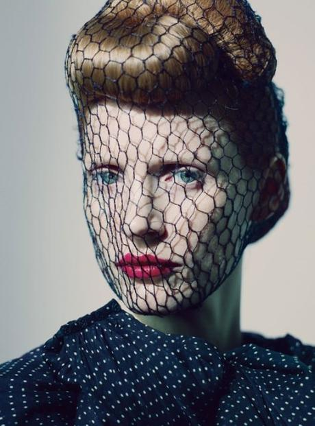 Headpice net celebrity fashion Jessica Chastain