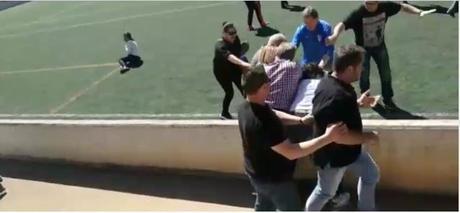 Terrorifico retrato de una nueva pelea entre padres y abuelos en el partido infantil Alaro -Collerense
