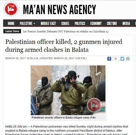 Choques armados entre palestinos en Balata.