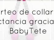 Ganador sorteo collar lactancia gracias BabyTete