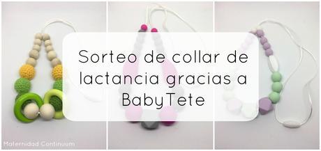 Ganador del sorteo de collar de lactancia gracias a BabyTete