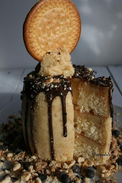 Drip cake de galleta María