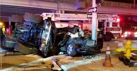Un muerto y cuatro heridos en accidente de tránsito en el Downton de Miami