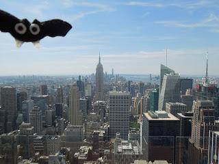Una gran manzana y un murciélago, Nueva York