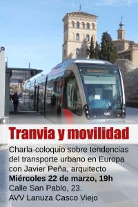 Tranvía y movilidad. Charla