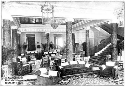 Curiosa factura del Hotel Nacional. Madrid, 1957