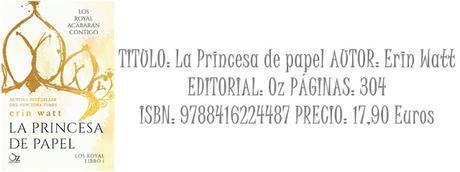 Reseña: La princesa de papel (Los Royals #1)