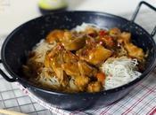 Sofrito pollo estilo asiatico