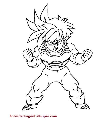 Goku en imagenes de caricaturas de dragon ball z para colorear