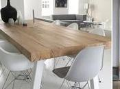 Blanco, madera metal para comedor nórdico
