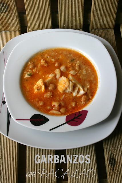 Garbanzos con bacalao receta expr ss paperblog - Garbanzos olla express ...