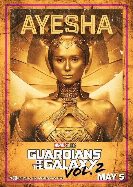 Posters de los personajes de GUARDIANES DE LA GALAXIA 2