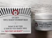 First beauty: duty triple remedy overnight balm