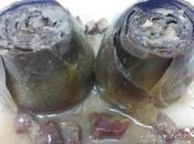 Alcachofas salsa jamón