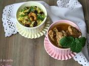 Curry fácil pollo estilo lanka arroz anacardos