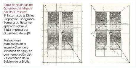 Raúl Rosarivo y el canon ternario en los libros renacentistas - Biblia de 36 líneas de Gutenberg analizada por Raúl Rosarivo