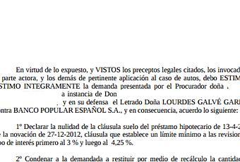 Nueva sentencia ganada contra banco popular recuperando for Hipoteca clausula suelo banco popular