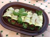 Canelones calabacín mayonesa vegana albahaca