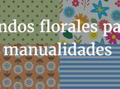 Fondos florales para manualidades. Imprimible flores.