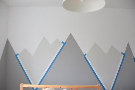 diy para nios o bebes paso a paso para hacer un mural de montaas